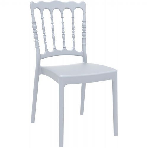 Napoleon Wedding Chair Silver Gray ISP044-SIL
