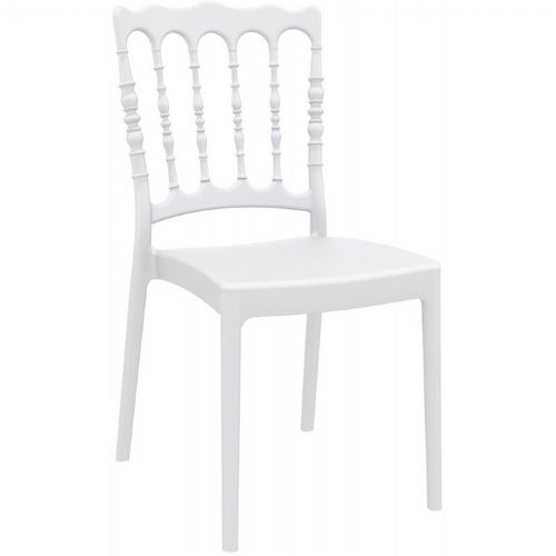 Napoleon Wedding Chair White ISP044-WHI