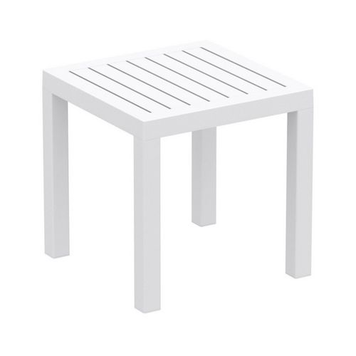 Ocean Square Resin Outdoor Side Table White ISP066-WHI