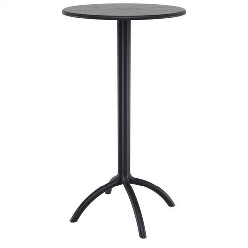 Octopus Resin Bar Table 24 Inch Round Black