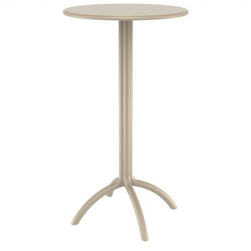 Octopus Resin Bar Table 24 inch Round Taupe ISP161-DVR