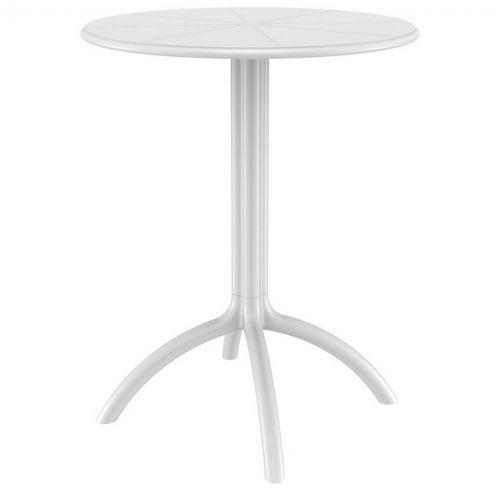 Octopus Resin Outdoor Dining Table 24 inch Round White ISP160-WHI