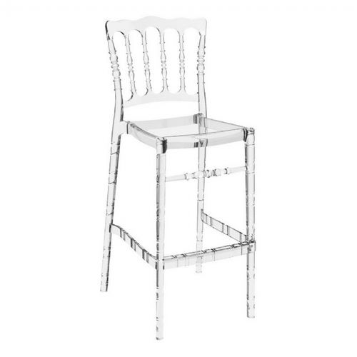 Opera Polycarbonate Barstool Transparent Clear ISP073-TCL
