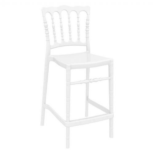 Opera Polycarbonate Counter Stool Glossy White ISP074-GWHI