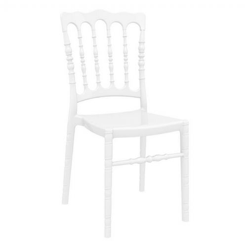 Opera Polycarbonate Dining Chair Glossy White ISP061-GWHI