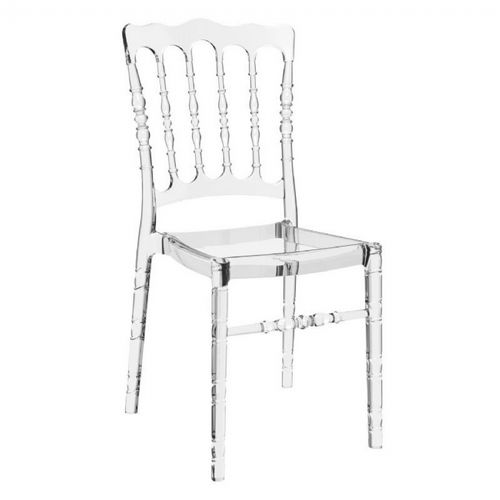 Opera Polycarbonate Dining Chair Transparent Clear ISP061-TCL