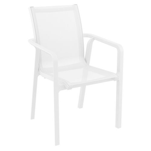 Pacific Sling Arm Chair White Frame White Sling ISP023-WHI-WHI