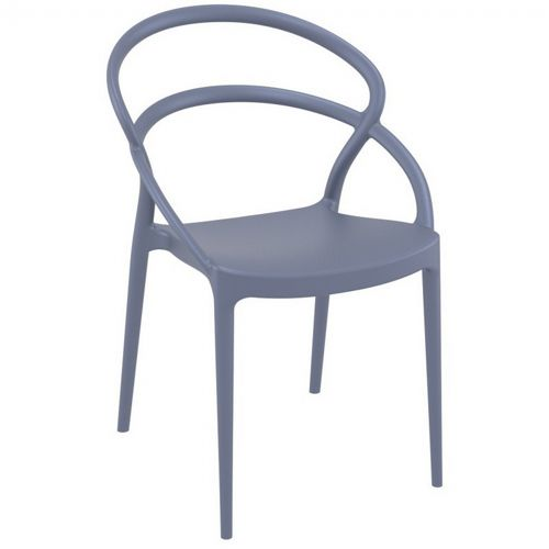 Pia Outdoor Dining Chair Dark Gray ISP086-DGR