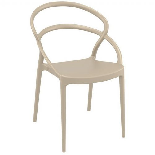 Pia Outdoor Dining Chair Taupe ISP086-DVR