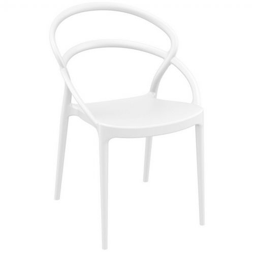 Pia Outdoor Dining Chair White ISP086-WHI