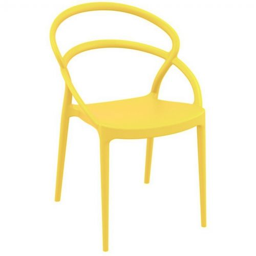 Pia Outdoor Dining Chair Yellow ISP086-YEL