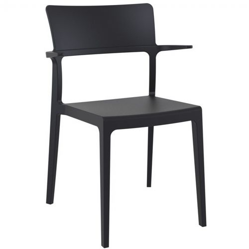 Plus Outdoor Dining Arm Chair Black ISP093-BLA