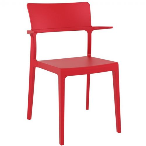Plus Outdoor Dining Arm Chair Red ISP093-RED