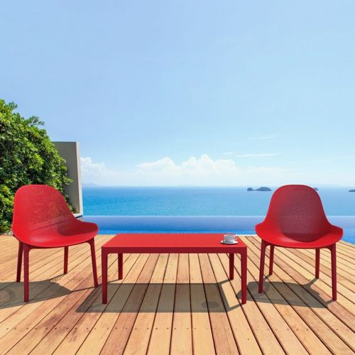 Sky Comfort Lounge Set 3 Piece Red ISP1031S-RED
