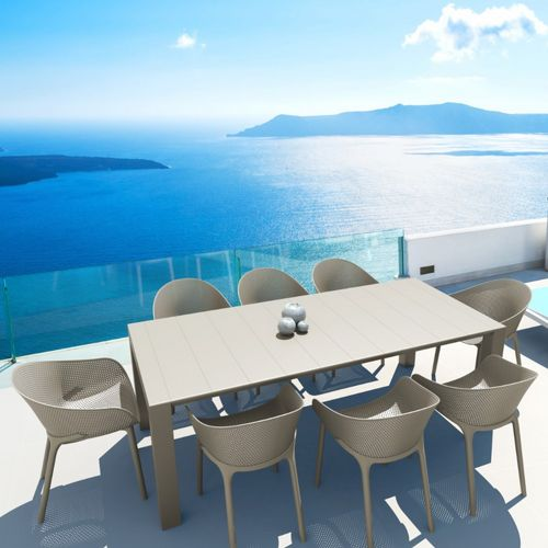 Sky Extendable Dining Set 9 Piece Taupe ISP1023S-DVR