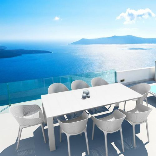 Sky Extendable Dining Set 9 Piece White ISP1023S-WHI