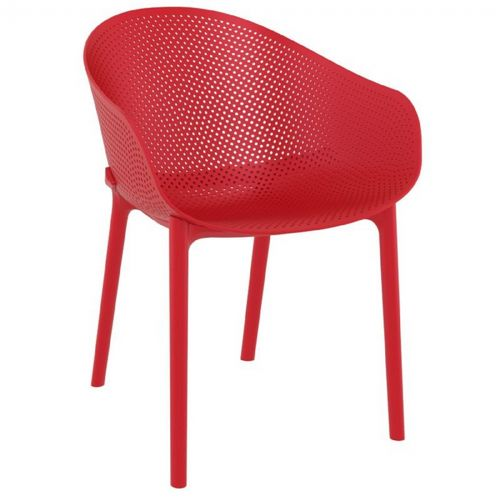 Sky Outdoor Indoor Dining Chair Red Isp102 Red Cozydays