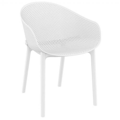 Sky Outdoor Indoor Dining Chair White ISP102-WHI