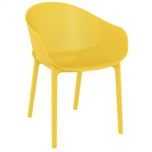Sky Outdoor Indoor Dining Chair Yellow ISP102-YEL