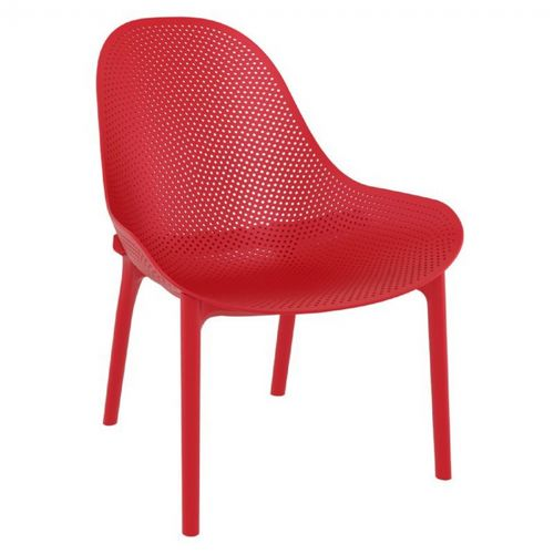 Sky Outdoor Indoor Lounge Chair Red ISP103-RED