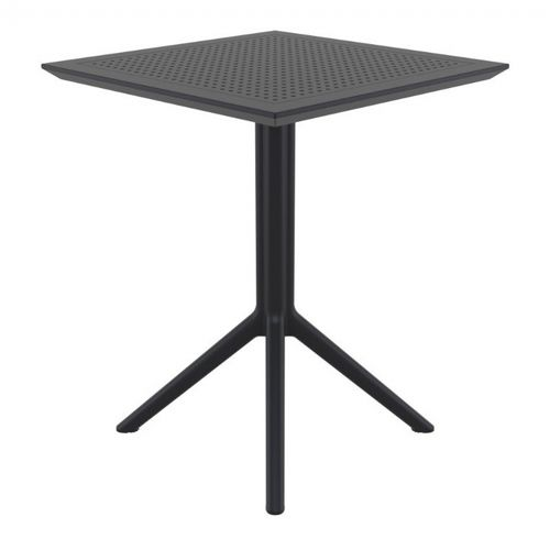 Sky Outdoor Square Folding Table 24 inch Black ISP114-BLA