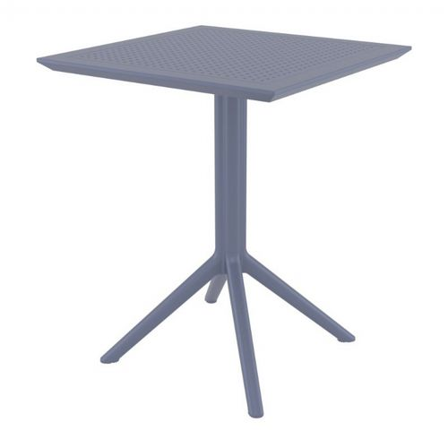 Sky Outdoor Square Folding Table 24 inch Dark Gray ISP114-DGR