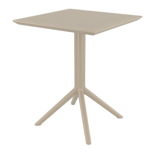 Sky Outdoor Square Folding Table 24 inch Taupe ISP114-DVR