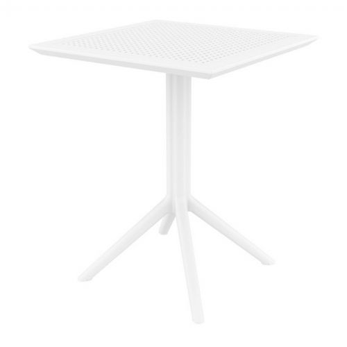 Sky Outdoor Square Folding Table 24 inch White ISP114-WHI