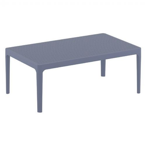 Sky Rectangle Resin Outdoor Coffee Table Dark Gray ISP104-DGR