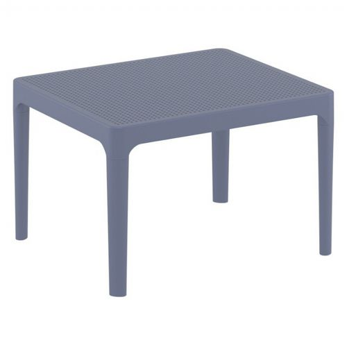 Sky Resin Outdoor Side Table Dark Gray ISP109-DGR