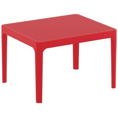 Sky Resin Outdoor Side Table Red ISP109-RED
