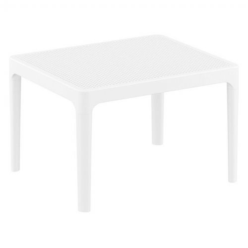 Sky Resin Outdoor Side Table White ISP109-WHI