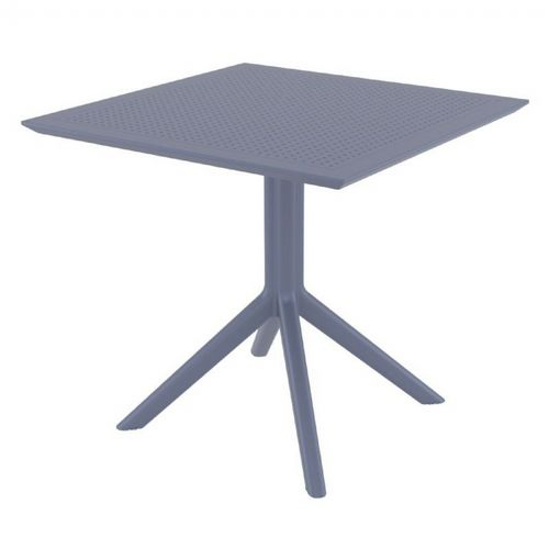 Sky Square Outdoor Dining Table 31 inch Dark Gray ISP106-DGR