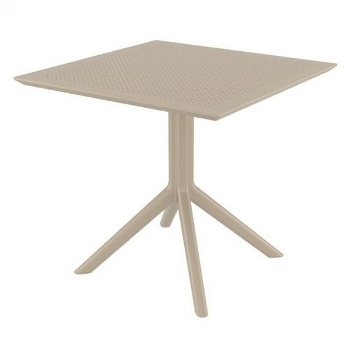 Sky Square Outdoor Dining Table 31 inch Taupe ISP106-DVR