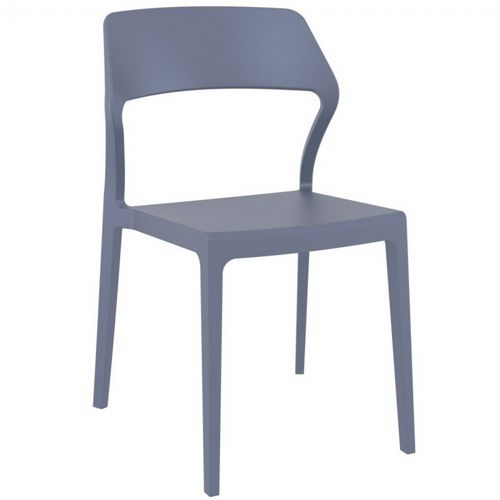 Snow Modern Dining Chair Dark Gray ISP092-DGR