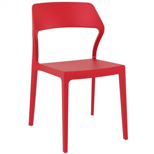 Snow Modern Dining Chair Red ISP092-RED