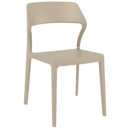Snow Modern Dining Chair Taupe ISP092-DVR