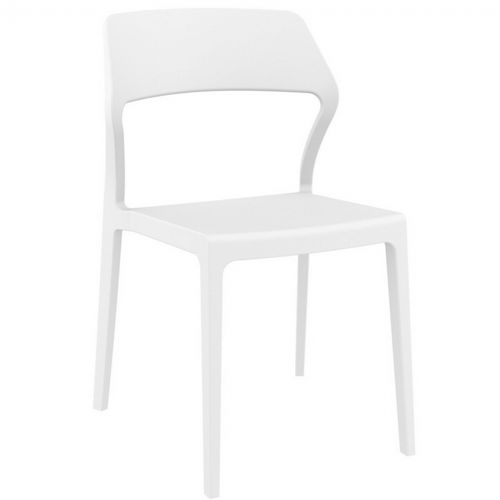 Snow Modern Dining Chair White ISP092-WHI