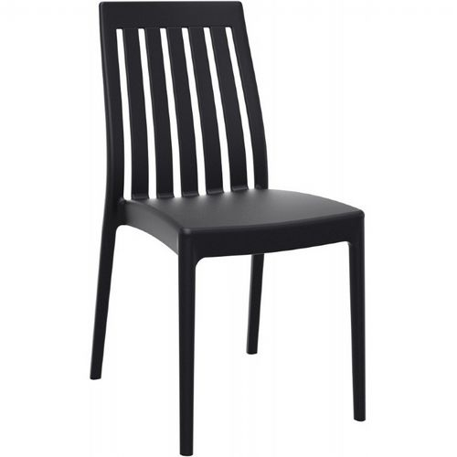 Soho Modern High-Back Dining Chair Black ISP054-BLA