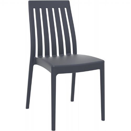 Soho Modern High-Back Dining Chair Dark Gray ISP054-DGR