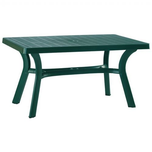Sunrise Resin Rectangle Outdoor Dining Table 55 inch Dark Green ISP182-GRE