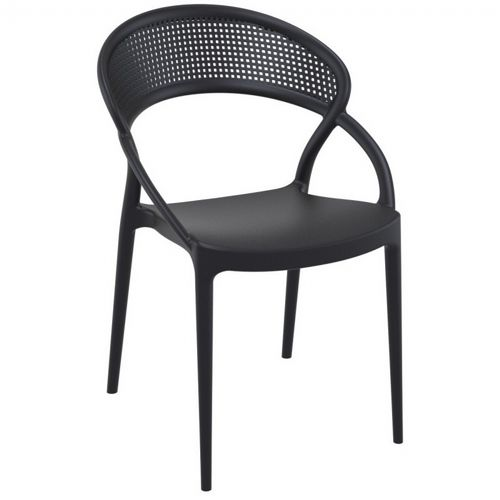 Sunset Outdoor Dining Chair Black ISP088-BLA