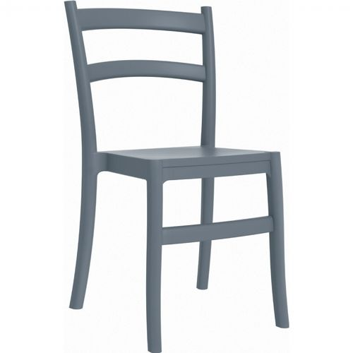 Tiffany Cafe Outdoor Dining Chair Dark Gray ISP018-DGR