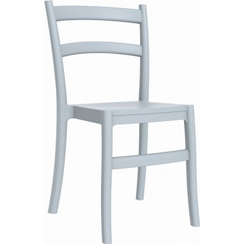 Tiffany Cafe Outdoor Dining Chair Silver Gray ISP018-SIL