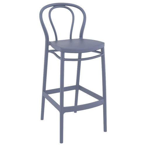 Victor Outdoor Bar Stool Dark Gray ISP262-DGR