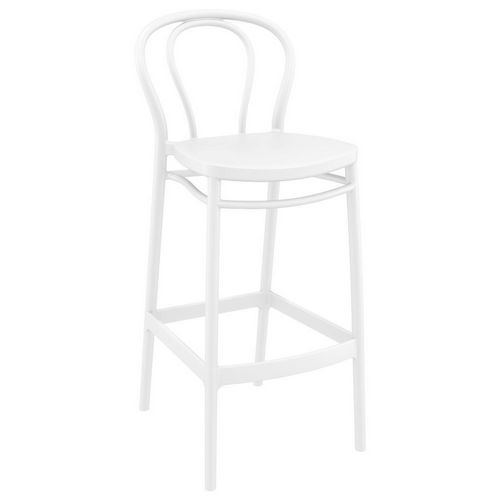 Victor Outdoor Bar Stool White ISP262-WHI