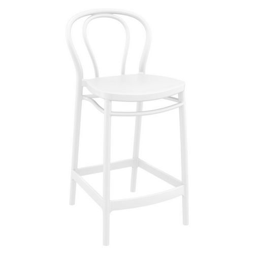 Victor Outdoor Counter Stool White ISP261-WHI