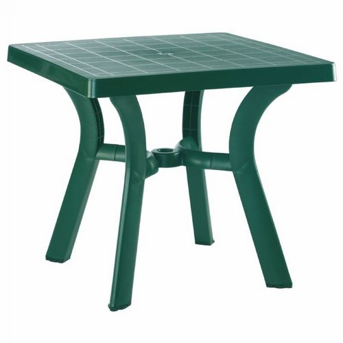 Viva Resin Square Outdoor Dining Table 31 inch Dark Green ISP168-GRE