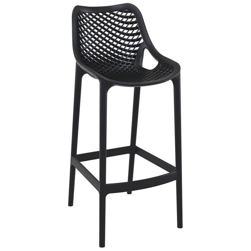 Air Outdoor Bar High Chair Black
