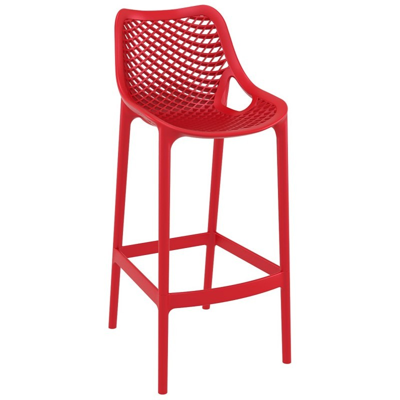 Air Outdoor Bar High Chair Red